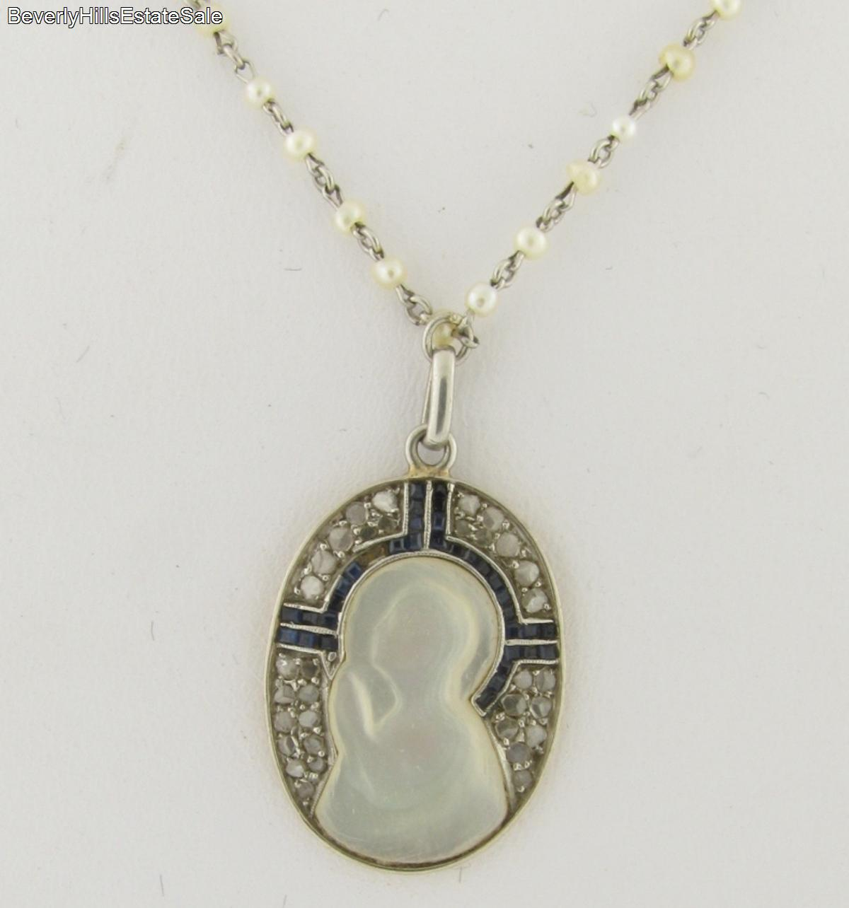 Instyle Decor Com Beverly Hills Beautiful Mother Of Pearl: Antique Art Deco Religious Platinum Gold Diamond Sapphires